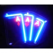 Deck of Cards Neon Sign